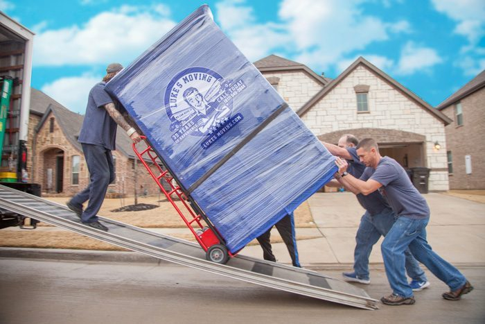 Image of Luke's Southlake Area Moving Crew Loading a Truck